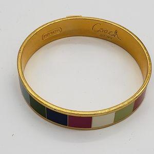 Coach multi colored bracelet